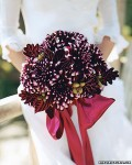 Aubergine dahlia bouquet