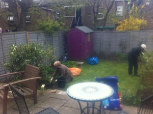 Working with Mum & Dad in the garden