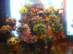 Neat, symmetrical bouquets in Saigon